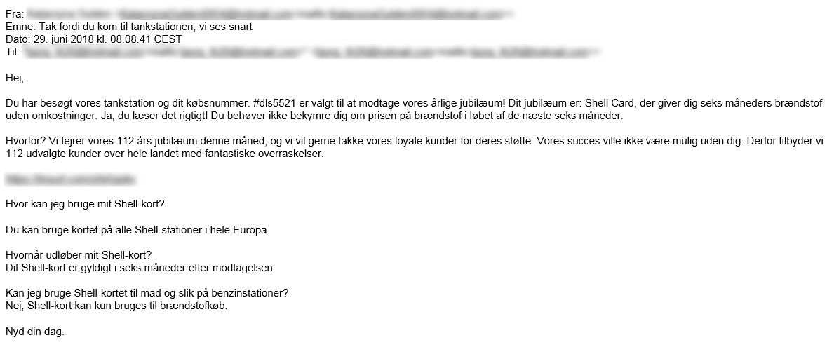 Phishing Advarsel Der Er En Svindel E Mail I Omlob